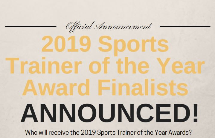 2019 Sports Trainer of the Year Finalist