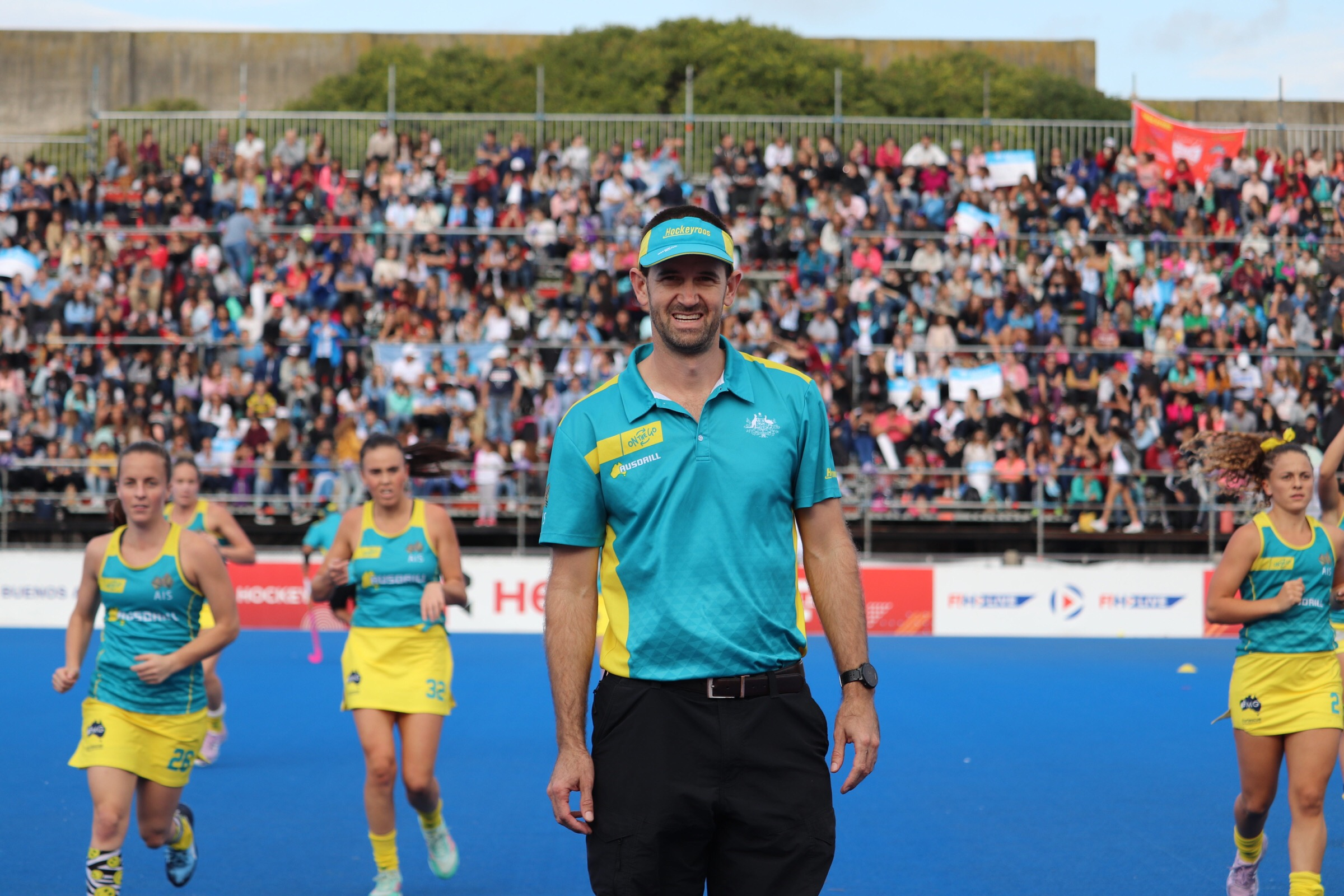 SASMA Member working with the Hockeyroos